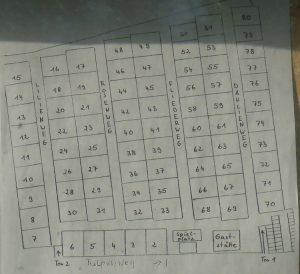 Plan der Gartenparzellen